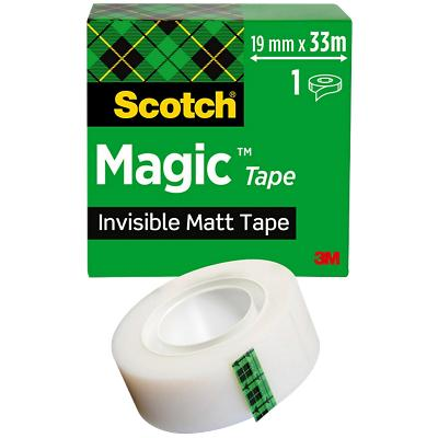 Scotch Magic Tape 810 Plakband Onzichtbaar mat 19 mm x 33 m