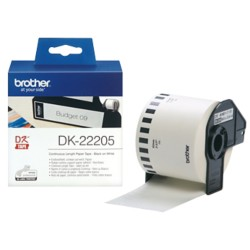 Brother Continu papiertape DK22205 62 mm x 30,5 m Wit