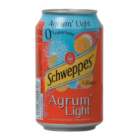 Schweppes Agrum light blik 24 stuks à 330 ml