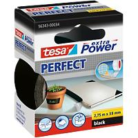 tesa extra Power Textieltape Perfect 38 mm x 2,75 m Zwart