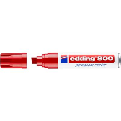 Edding 800 Permanent Marker Extra Breed Schuine Punt Rood
