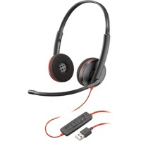 Plantronics Blackwire C3220 Headset met kabel zwart