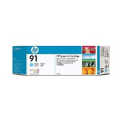 Inktcartridge 91 HP C9470A light cyaan 775 ml