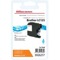 Office Depot Compatibel Brother LC123C Inktcartridge Cyaan