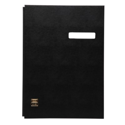 ELBA Vloeiboek Signature Book, 20 Compartments, PVC Red karton, polypropyleen 245 x 340 mm Zwart