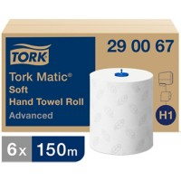 Tork Handdoekrol H1 Matic Advanced 2-laags Zonder vouw Wit 6 Rollen à 625 Vellen
