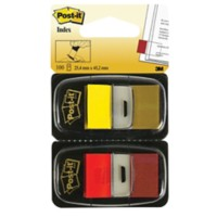 Post-it I680 Indexen Rood, geel Blanco 25,4 x 43,2 mm 2 Stuks à 50 Vellen