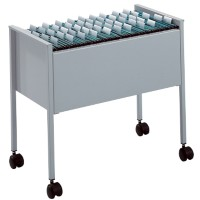 DURABLE Hangmappenwagen Economy Suspension File Trolley 80 A4 1 Vak Zilver 655 x 368 x 592 mm