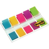 Post-it 6835-5CB Indexen Kleurenassortiment Neon Blanco 11,9 x 43,2 mm 1,19 x 4,32 cm 70 g/m² 5 Stuks à 20 Strips