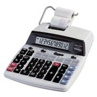 Office Depot Printrekenmachine AT-2100 12-cijferige display Zwart, rood