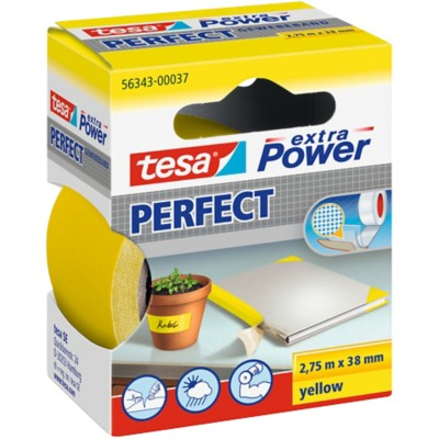 tesa Textieltape Extra Power 38 mm x 2,75 m Geel