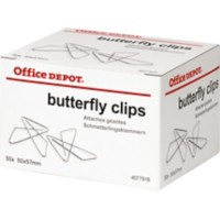 Office Depot Vlinderclip Metallic 57 mm 50 stuks