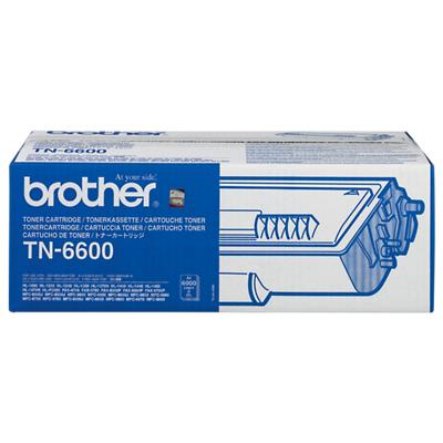 Brother TN-6600 Origineel Tonercartridge Zwart