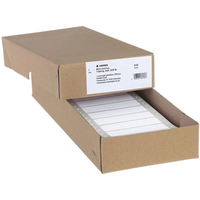 HERMA Computerlabels 8160 Wit 88,9 x 23 mm 2000 Vellen à Etiketten