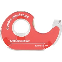 Office Depot Dubbelzijdige Tape Transparant 12mm x 6.3m