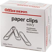 Office Depot Papier Clips 100mm Zilver Pak van 100