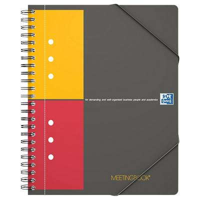 OXFORD International Meetingbook Spiraalblok Oranje Geruit A5+ 80 g/m²