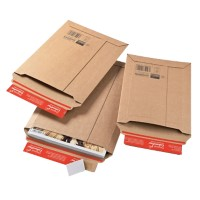 ColomPac Kartonnen envelop Safe Well 6 Bruin 262 (B) x 375 (D) x 50 (H) mm