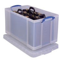 Really Useful Box Archiefboxen 84 L Transparant Plastic 44 x 71 x 38 cm