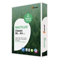 Nautilus Gerecycled papier Classic Gerecycled papier A3 80 g/m² Wit N/A 500 Vellen