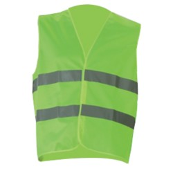 Veiligheidsvest Safety mesh polyester taille unique Geel