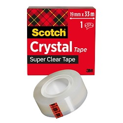 Scotch Plakband Crystal 19 mm x 33 m Transparant