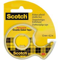 Scotch Dubbelzijdige Tape Permanent Transparant 12mm x 6.3m