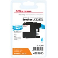 Office Depot Compatibel Brother LC225XL Inktcartridge Cyaan