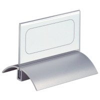 DURABLE Tafelnaambord 8200 52 x 100 mm Transparant Acryl, aluminium 10 x 5,2 cm