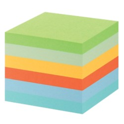 Post-it 6541GB Gerecyclede notes Kleurenassortiment Blanco 76 x 76 mm 76 x 76 mm 80 g/m² 6 stuks à 100 vellen