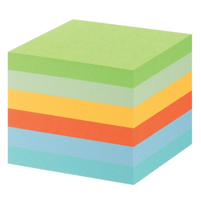 Post-it Gerecyclede notes 76 x 76 mm Kleurenassortiment 6 Stuks à 100 Vellen