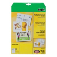 Sigel Briefkaarten LP711 A6 185 g/m2 Wit