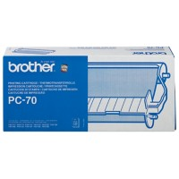 Brother Original PC-70 Zwart Inkt Cartridge + Donorrol