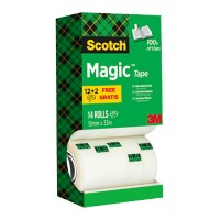 Scotch Plakband Magic 19 mm x 33 m Transparant 14 Rollen