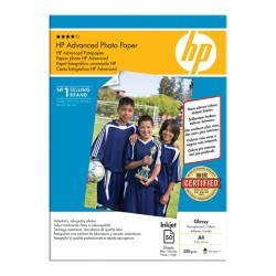 HP Advanced Inkjet fotopapier A4 glanzend 250 g/m² 210 x 297 mm Wit 50 vel