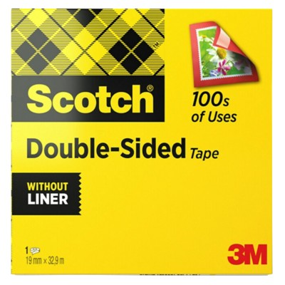 Scotch Plakband Double Sided 19 mm x 33 m Transparant