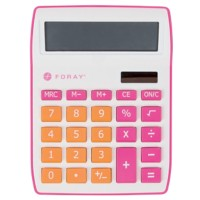 Foray Bureaurekenmachine Generation 10-cijferige display Roze, oranje