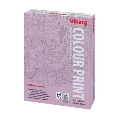 Viking Colour Print Papier A4 80 g/m² Wit 500 Vellen