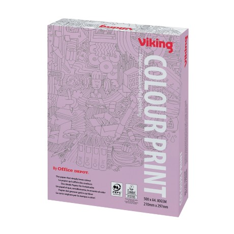 Viking Colour Print Papier A4 80 g/m² Wit 500 vel