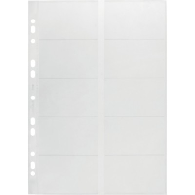 DURABLE Business Visitekaarthoezen Transparant A4 200 kaartjes Polypropyleen 255 x 315 mm 10 Stuks