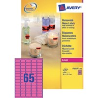 Avery Mini etiketten Fluo rose 6500 stuks