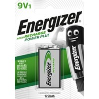 Energizer 9V Oplaadbare Batterijen Power Plus 6HR61 175mAh NiMH