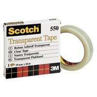 Scotch Plakband 550 Polypropyleen 19 mm x 66 m Transparant