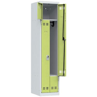 Pierre Henry Locker 1 Deur 1 Vak Grijs, lime 400 x 500 x 1.800 mm