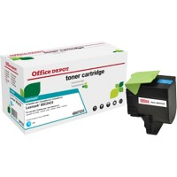 Office Depot Compatibel Lexmark 802HC Tonercartridge Cyaan
