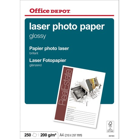 Office Depot Laser fotopapier A4 glanzend 210 g/m² 210 x 297 mm Wit 250 vel