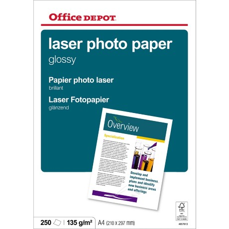Office Depot Laser fotopapier A4 glanzend 135 g/m² 210 x 297 mm Wit 250 vel