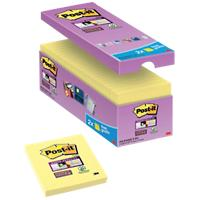 Post-it Super Sticky Notes 76 x 76 mm Canary Yellow Geel 90 Vellen Voordeelpak 14 + 2 GRATIS