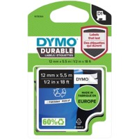 DYMO D1 Durable Labeltape 1978364 Zwart op Wit 12 mm x 5,5 m