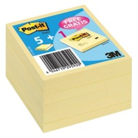Post-it Notes 76 x 76 mm Canary Yellow Geel 100 Vellen Voordeelpak 5 + 1 GRATIS
